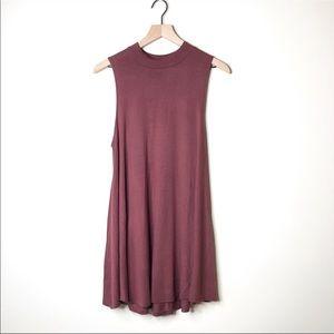 Audrey 3+1 Maroon Sleeveless Swing Dress